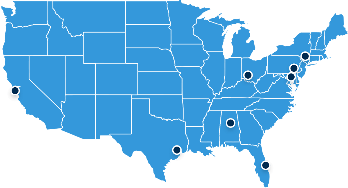 Our Office Locations Map