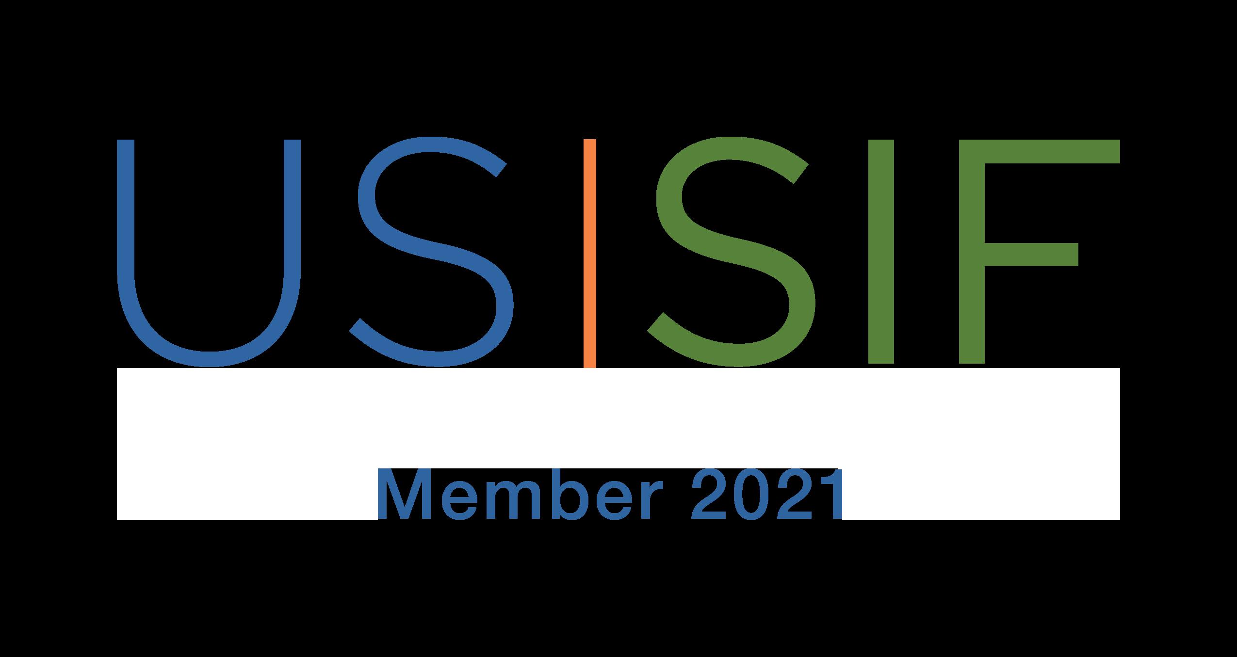 US SIF Member Logo 2021 - Light Background